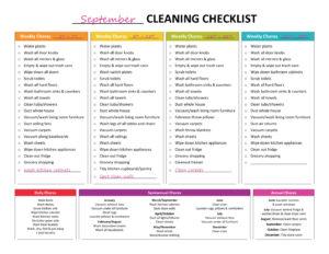 följ ett städschema för bäst resultat vid hemstäd